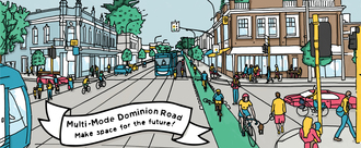 Add bikeways to light rail on Dominion Road!