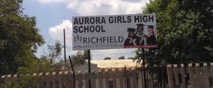 Sign to demand healthy food for Aurora Girls High School learners