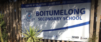 Sign to demand healthy food for Boitumelong Secondary learners