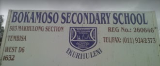 Sign to demand healthy food for Bokamoso Secondary learners