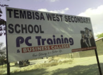 Sign to demand healthy food for Tembisa West Secondary School
