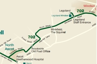 Hourly Bus Service between Ascot and Legoland