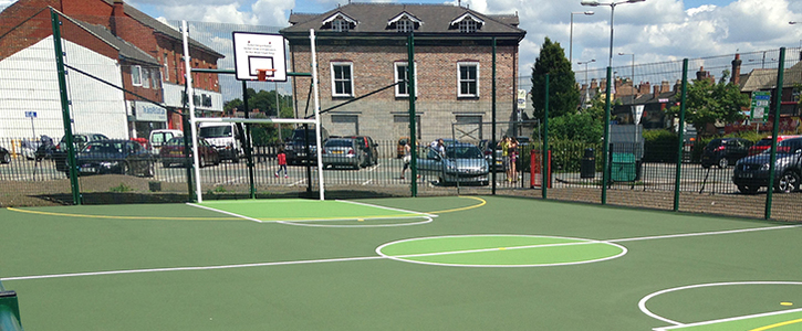 Build 3 Outdoor Basketball MUGA areas in Wakefield