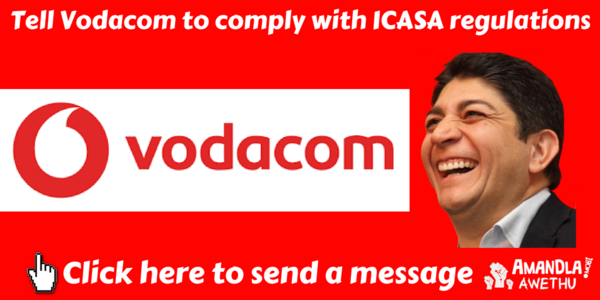Tell Vodacom to implement ICASA rules to make data last
