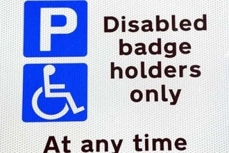 Disabled blue badge parking
