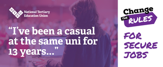 """I've Been A Casual at the Same Uni for 13 Years"" — Change The Rules for Secure Jobs!"