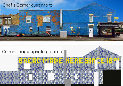 Save Chef's Corner on Cann Hall Rd, Leytonstone! £40K could be spent on this design