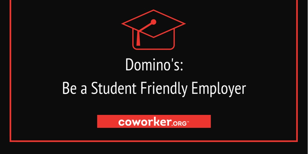 Allow students to choose their work schedule at Domino's