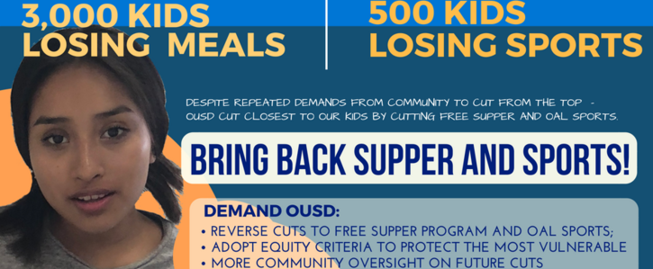 Bring Back Supper & Sports For Oakland Students!