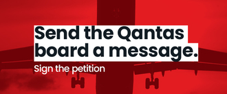 Send a message to the Qantas board