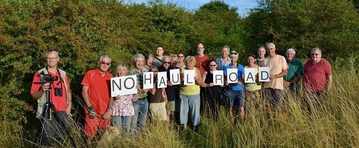 No gravel extraction haul road through Fairlop Waters Country Park