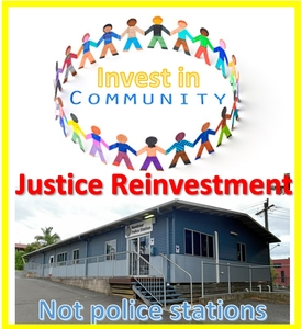 Invest in Community, not a $9 million dollar police station ✊