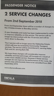 To get the bus service back on Habberley estate