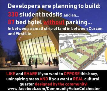 No Student Bedsit Development in Colchester's Cultural Quarter