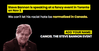 No Hate in Toronto: Cancel Steve Bannon at Munk Debate