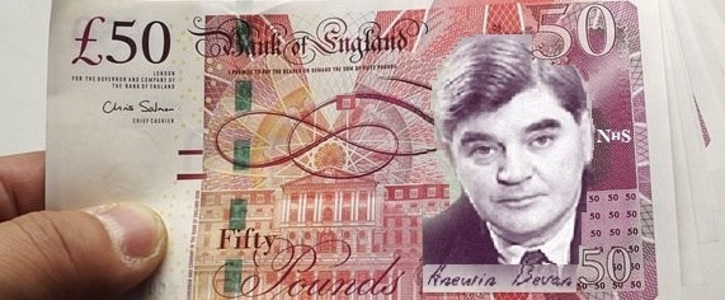Nye Bevan's portrait on the new £50 note
