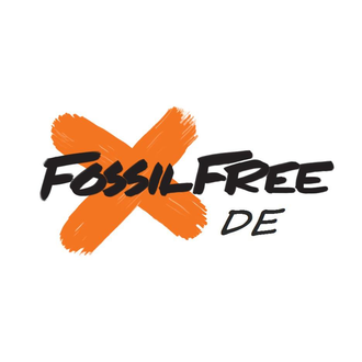 Fossil free deutschland logo white background