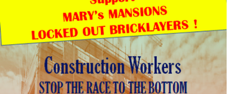 We demand rights for the Mary's Mansions Workers!