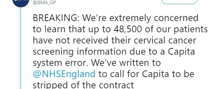 Terminate NHS England Contract With Capita Now