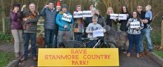 Save stanmore country park campaign launch hobbins section dsc 5629 release 131218