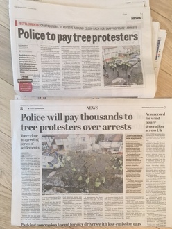 Demand for Independent Public Enquiry into Council & Police handling of the Sheffield Tree Campaign.