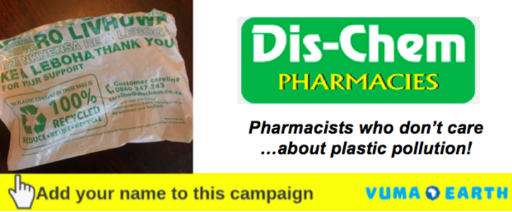 Dispensing in plastic bags - Dis-chem's unhealthy waste injustice