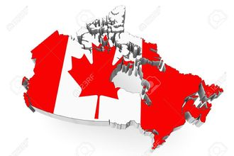 17094574 3d canada map with flag on a white background