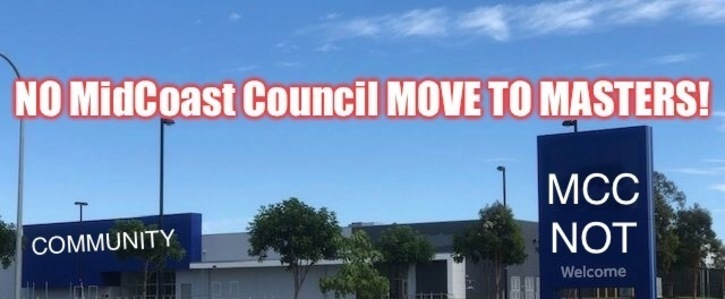 NO MidCoast Council MOVE TO MASTERS
