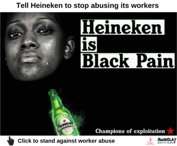 Tell Heineken to stop abusing labour broker workers in South Africa