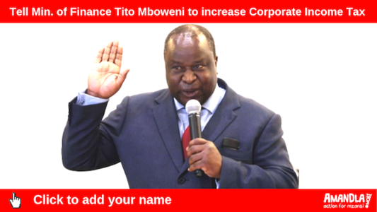 Tell Min. of Finance Tito Mboweni to increase Corporate Income Tax