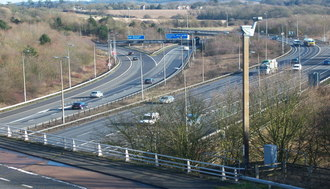 East Facing Slips on the M25 Sevenoaks J5