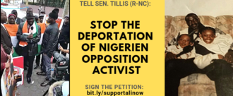 Stop the Deportation of Nigerien Opposition Activist