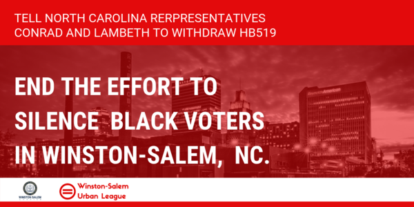 End the effort to silence the voices of African-American voters in Winston-Salem