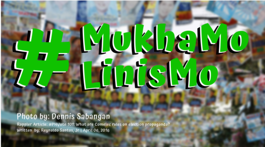 Clean - Up Your Campaign Materials, 2019 Election Candidates & Party - lists! #MukhaMoLinisMo