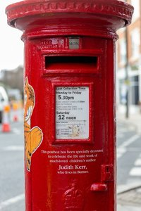 Bring back the Judith Kerr postbox to Barnes as a permanent memorial to the much loved writer