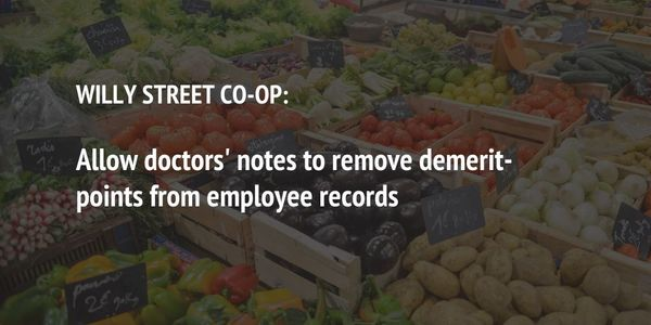 Allow doctors' notes to remove demerit-points from employee records.