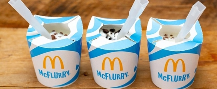 NO PLASTIC SPOONS FOR MCFLURRY