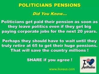 Stop Pension Age Rise and Cut Politicians Benefits