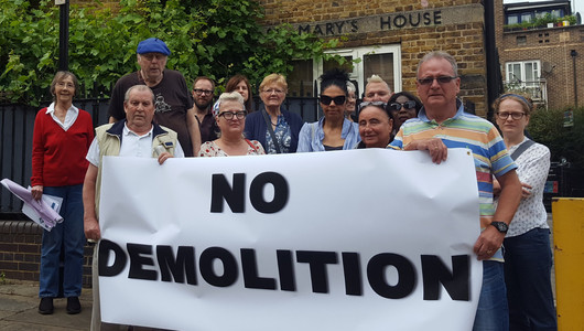 No demolition on St Mary's Path Estate