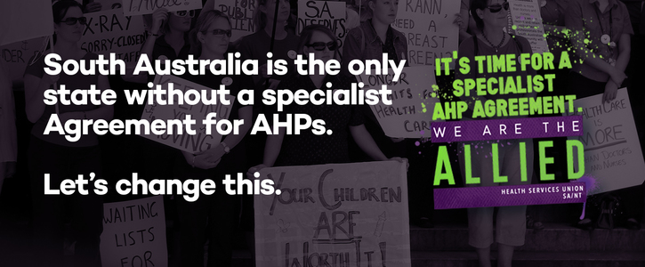 It's time for a specialist Allied Health Professional Agreement