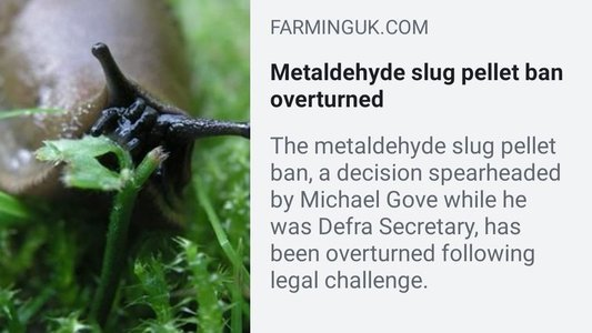 Re-instate the ban on slug pellets that was overturned following legal challenges