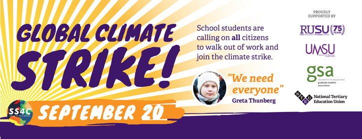 RMIT: Support for Global Climate Strike Sept 20