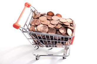 Coins in trolley