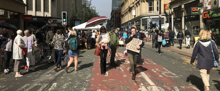 Prioritise People not Cars. Please Pedestrianise Deansgate