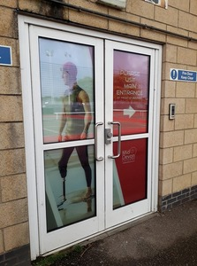 Re-open the back door of the Exe Valley Leisure Centre