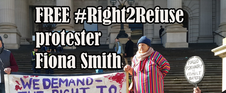 Free Fiona Smith, #Right2Refuse protester & platypus advocate