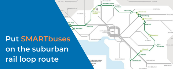Put SMARTbuses on the suburban rail loop route