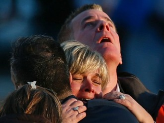 Sandy hook parents crying reuters