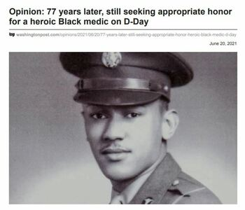 Congressional Medal (WWII) for an African American