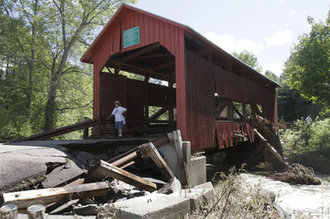 Covered bridge irene